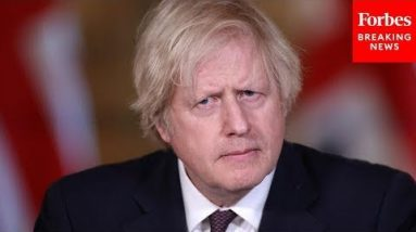 Boris Johnson Holds Climate Change Kids Press Briefing Prior To COP26 Global Summit